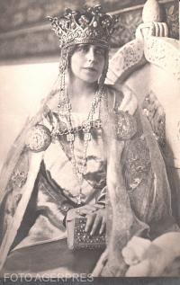 M.S.Regina Maria a Romaniei, la incoronare (15 octombrie 1922/ Foto Agerpres.