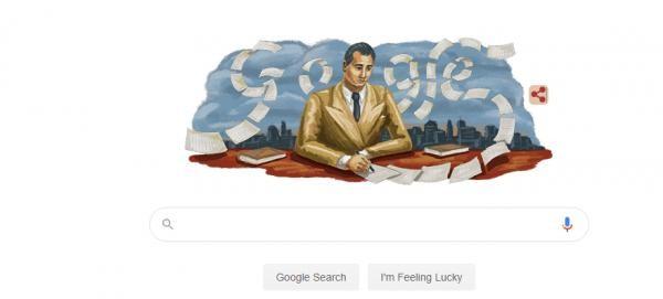 Google îl celebrează pe Mihail Sebastian, foto google