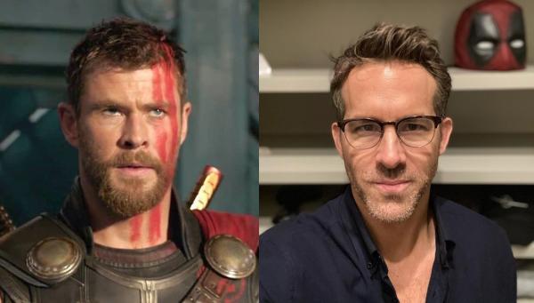 Chris Hemsworth și Ryan Raynolds.