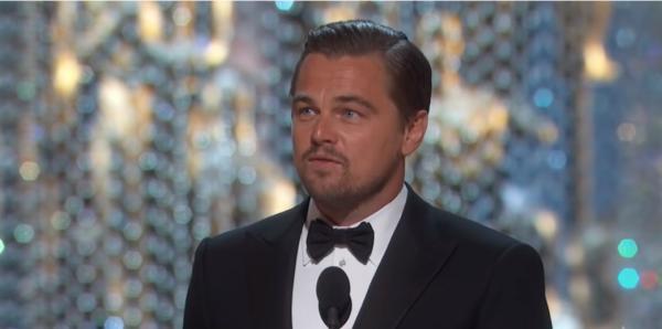 Leonardo DiCaprio, captura foto YouTube/Oscars