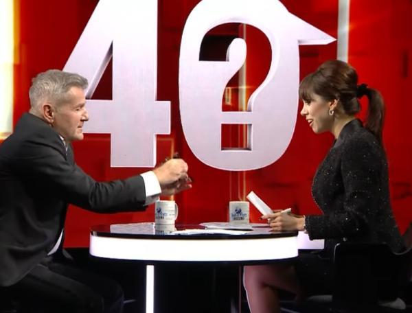 """Denise Rifai, captură foto emisiunea """"40 de Întrebări""""-KanalD"""