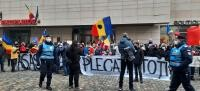 Protest după incendiul de la Matei Balș, sursa DC NEWS