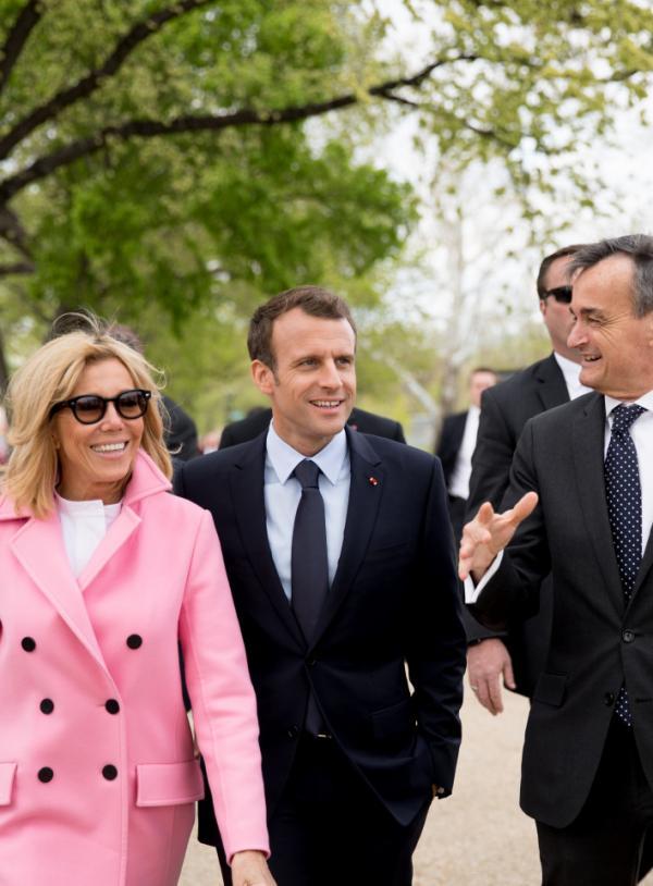 Brigitte Macron, prima doamnă a Franței și președintele francez Emmanuel Macron. Sursă foto: Palatul Elysee