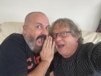 Leonard Miron și iubitul său. Foto Facebook