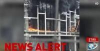 Incendiu pe Stadionul Giulești/ Captură foto Antena 3