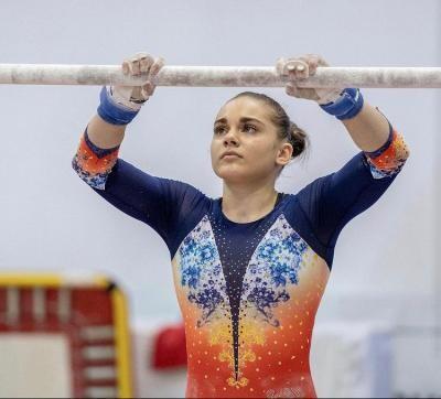 Maria Holbură, gimnastă calificată la individual compus, la Jocurile Olimpice de la Tokyo din 2021.