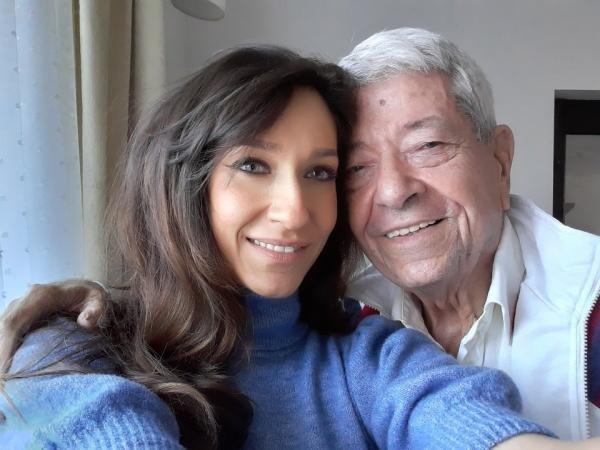 Ion Dichiseanu și fiica sa, foto Facebook