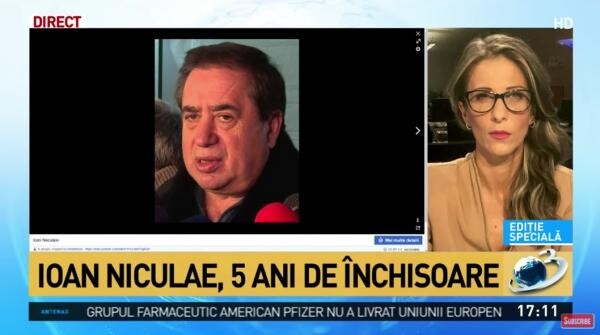 Ioan Niculae, captura foto Antena 3