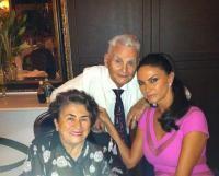 Ramona Bădescu împreună cu părinții ei, sursa foto Instagram