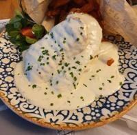 Piept de pui cu sos gorgonzola/ foto arhiva personală