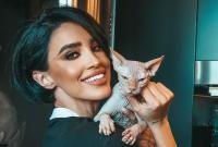 Adelina Pestrițu și pisica ei, Ra. Foto Instagram