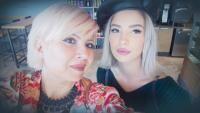 Catinca Roman și fiica ei, sursa foto Facebook