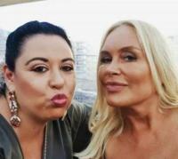 Oana Roman și Vica Blochina, în perioada în care erau prietene. Foto Facebook