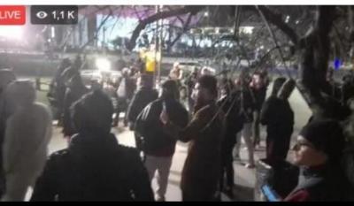 Captură video cu protestele