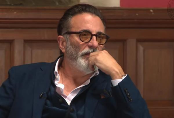 Andy Garcia. Captură foto Youtube/ OxfordUnion
