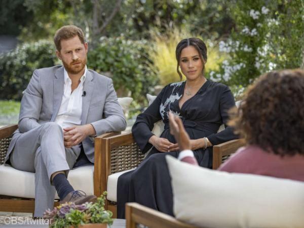 Meghan Markle și Prințul Harry, Captură foto YouTube/CBS