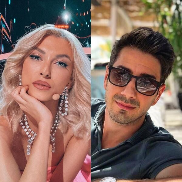 Andreea Bălan și Tiberiu Argint, colaj foto, sursa Instagram