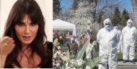Dana Budeanu/ înmormântare Gabi Luncă. captură Foto Antena 3