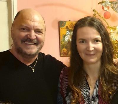 Victor Socaciu și fiica sa, Ana Maria, foto Facebook