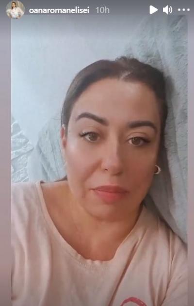 Oana Roman, captura foto InstaStory