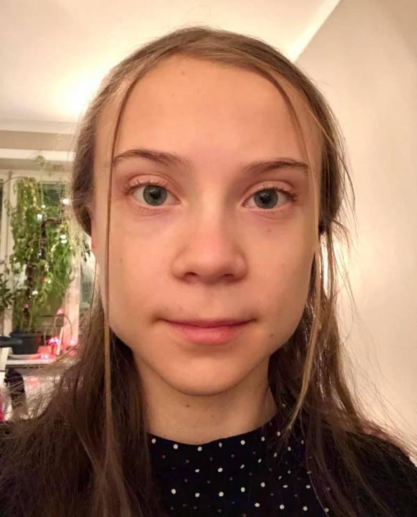 Greta Thunberg, sursa foto Facebook