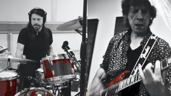 """Mick Jagger şi Dave Grohl au lansat """"imnul"""" ieșirii din lockdown 'Eazy Sleazy' . Captură Foto Youtube"""