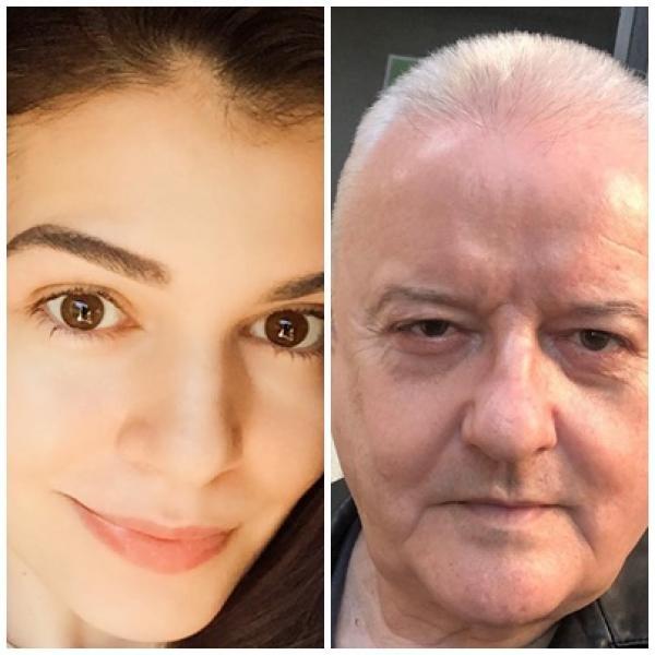 Monica Gabor și Irinel Columbeanu, sursa instagram/ colaj