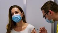 Descriere foto: Prințesa Kate s-a vaccinat/ sursa Twitter
