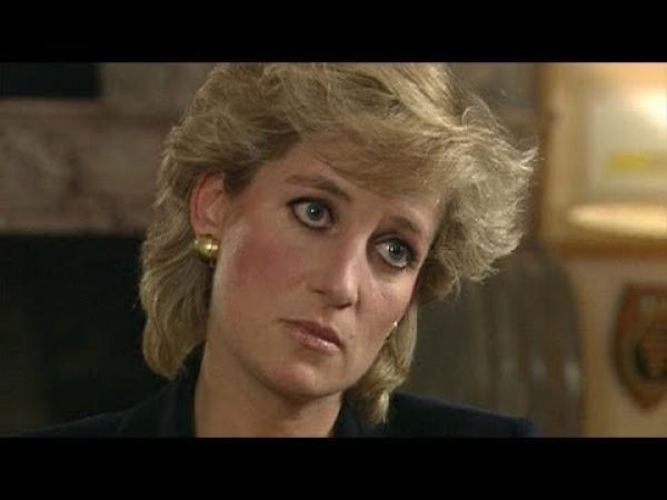 Printesa Diana, în timpul interviului acordat BBC, în 1995, captură foto Youtube