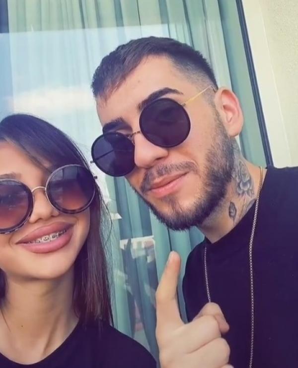 Fulgy și iubita lui, captura foto TikTok
