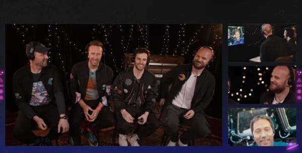 Coldplay și Thomas Pesquet, captura foto Youtube/sursa Coldplay