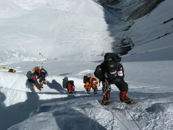 Alpinist orb a cucerit vârful Everest, sursa pixabay/ autpr David Mark