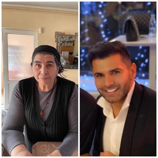 Florin Pastramă și mama sa, sursa facebook/ colaj foto