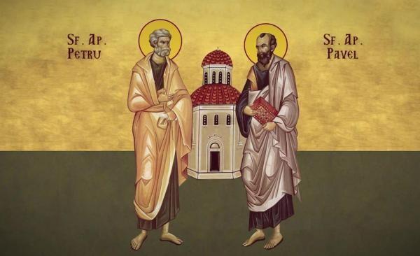 Sfinții Apostoli Petru și Pavel, sursa foto Doxologia.ro