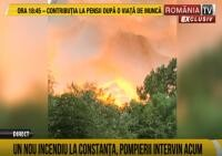 Un nou incendiu. Arde o hală industrială în Constanța / Sursă foto: România tv