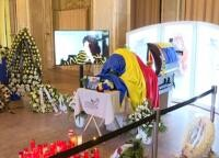 Inmormântare Florin Condurățeanu, captura foto România TV