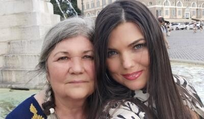 Paula Seling și mama sa, foto Facebook