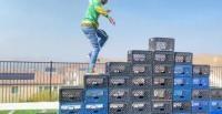 Milk Crate Challenge, captură foto Twitter