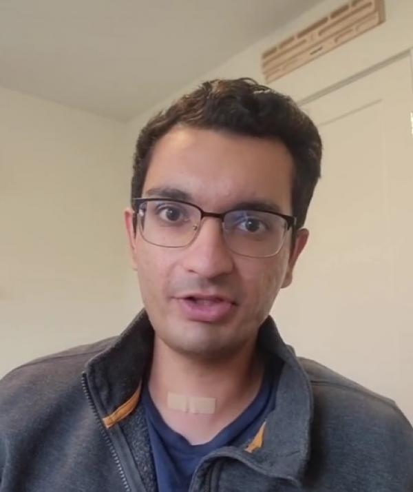 Aaroh Mankad, captura foto TikTok