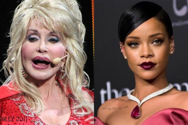 Dolly Parton și Rihanna, Colaj foto