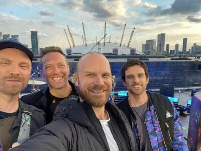 Coldplay, foto Instagram