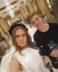 Romanița Iovan și fiul ei, sursa facebook
