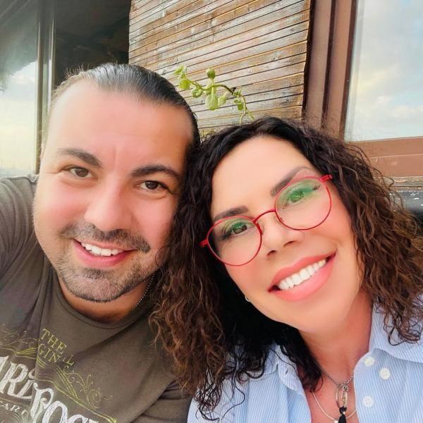 Luminița Anghel și soțul ei, foto Instagram
