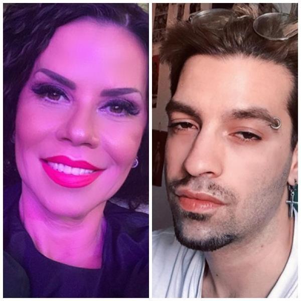 Luminița Anghel și David Pușcaș, sursa instagram/ colaj foto
